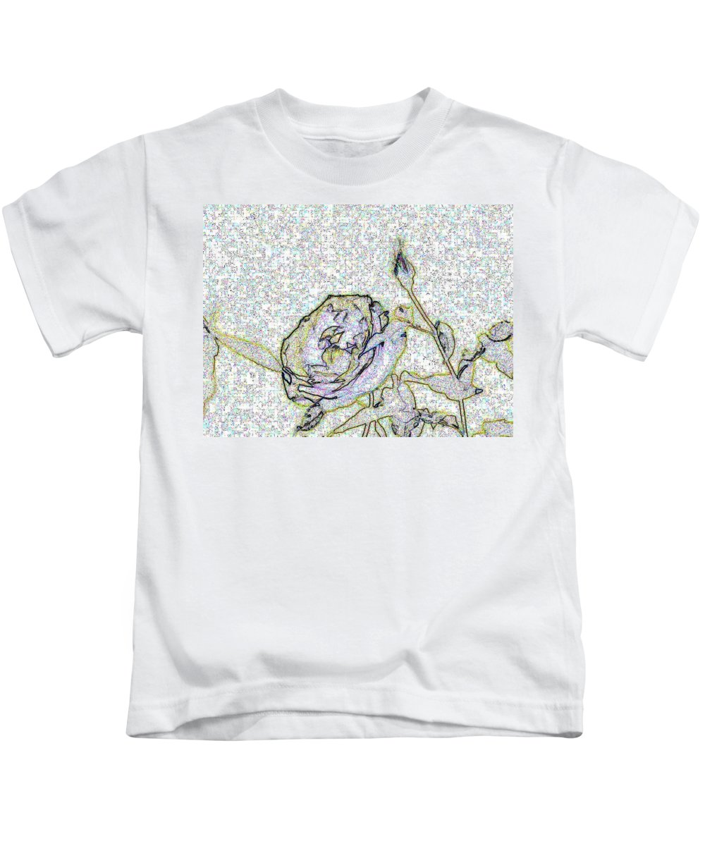 Rose Kids T-Shirt featuring the photograph Rose For U by Tim Allen