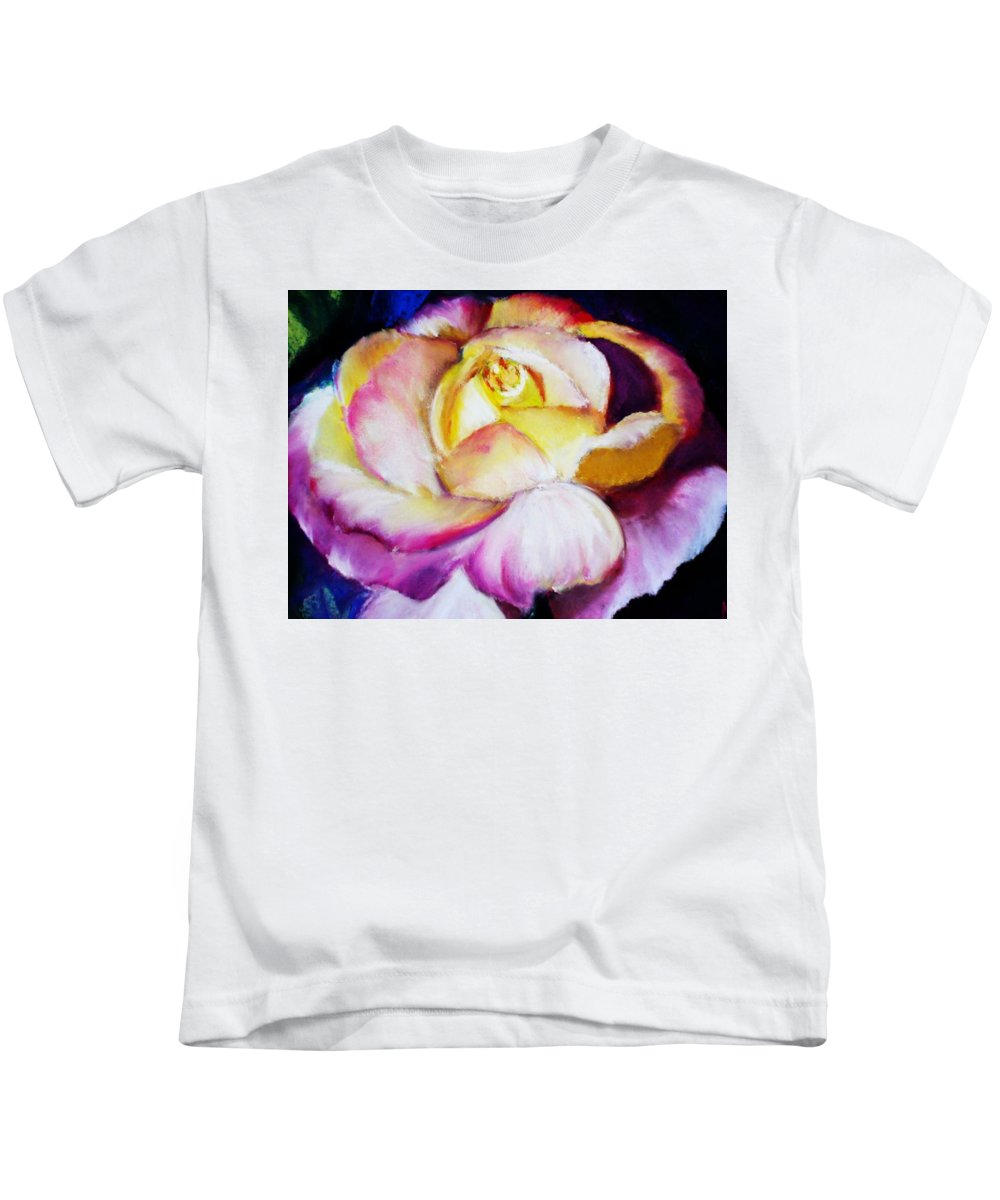 Rose Kids T-Shirt featuring the print Rose by Melinda Etzold