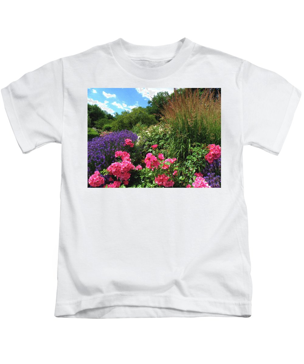 Nature Kids T-Shirt featuring the digital art Roses by Alex Lim