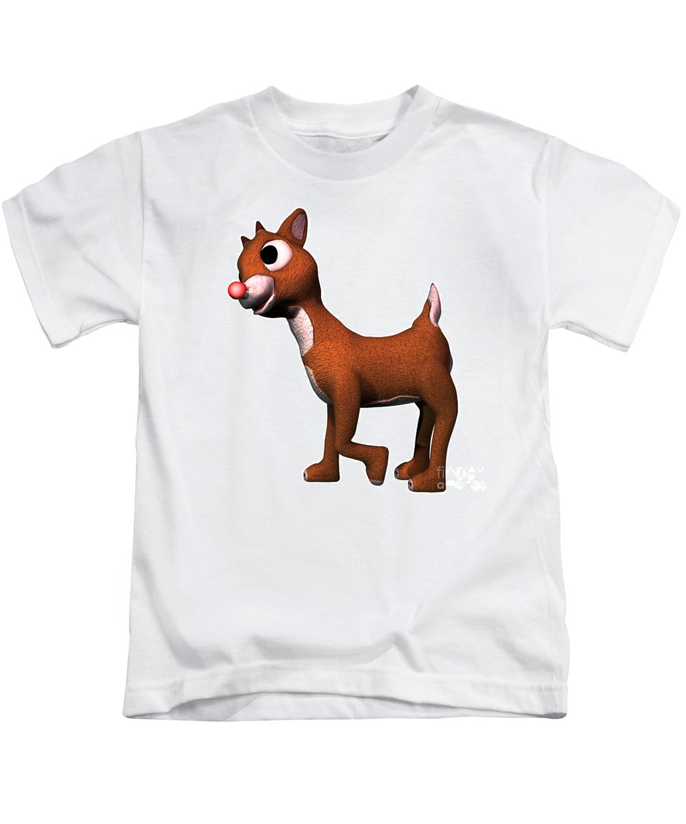 Rudolf Kids T-Shirt featuring the painting Rudolf by Corey Ford