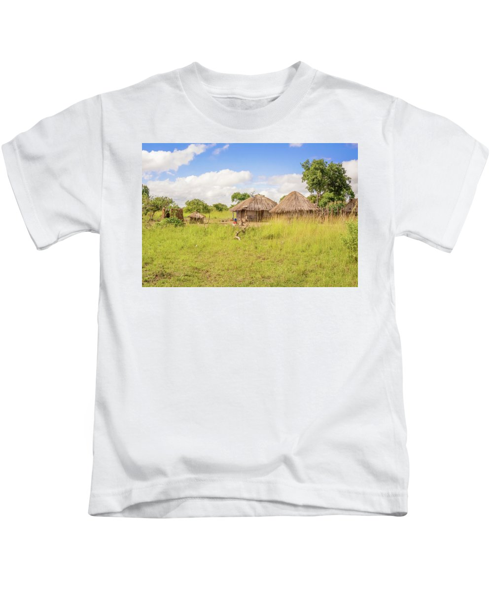 Picturesque Kids T-Shirt featuring the photograph Rural Landscape In Zambia by Marek Poplawski