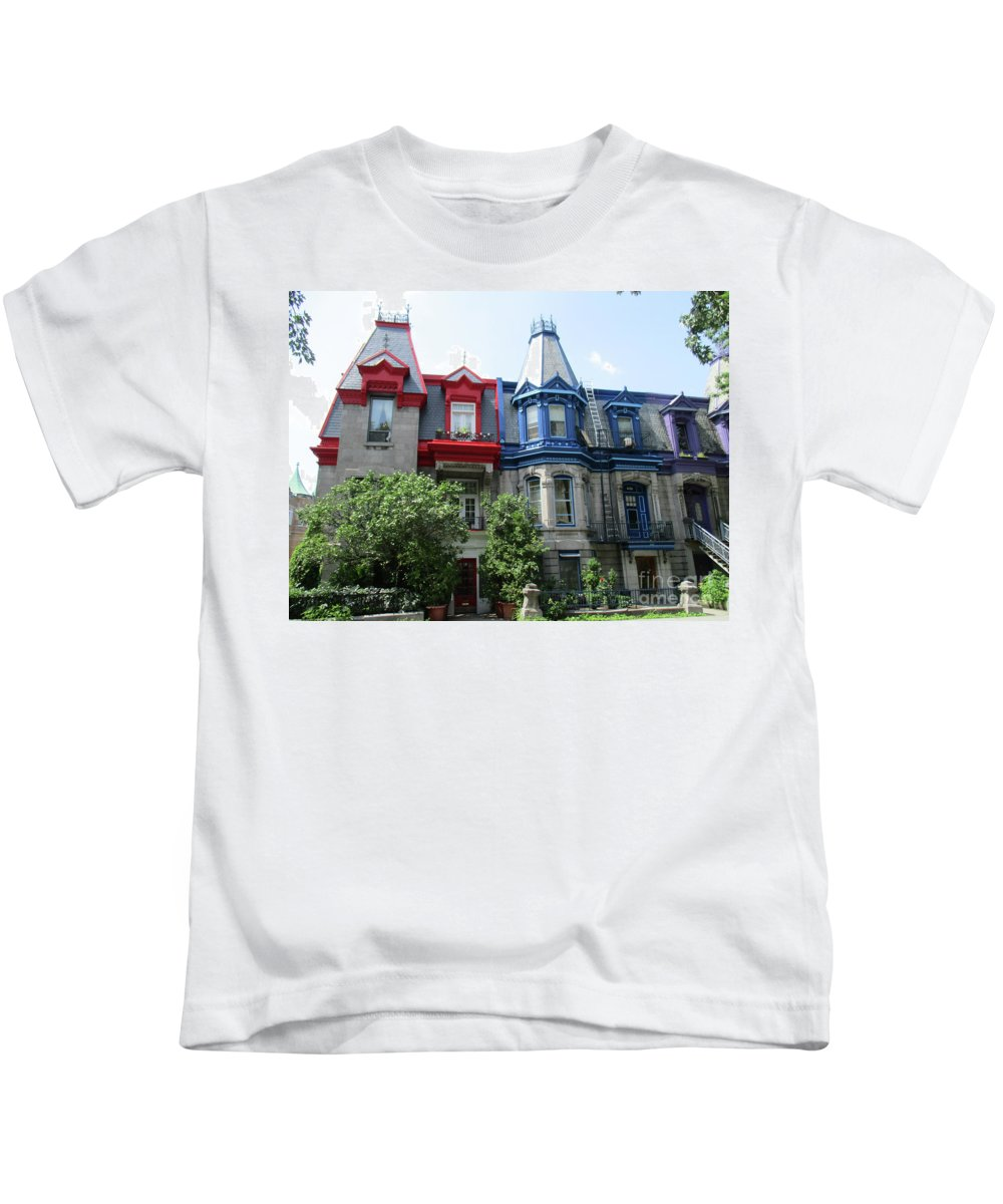 Montreal Kids T-Shirt featuring the photograph Saint Louis Square 6 by Randall Weidner