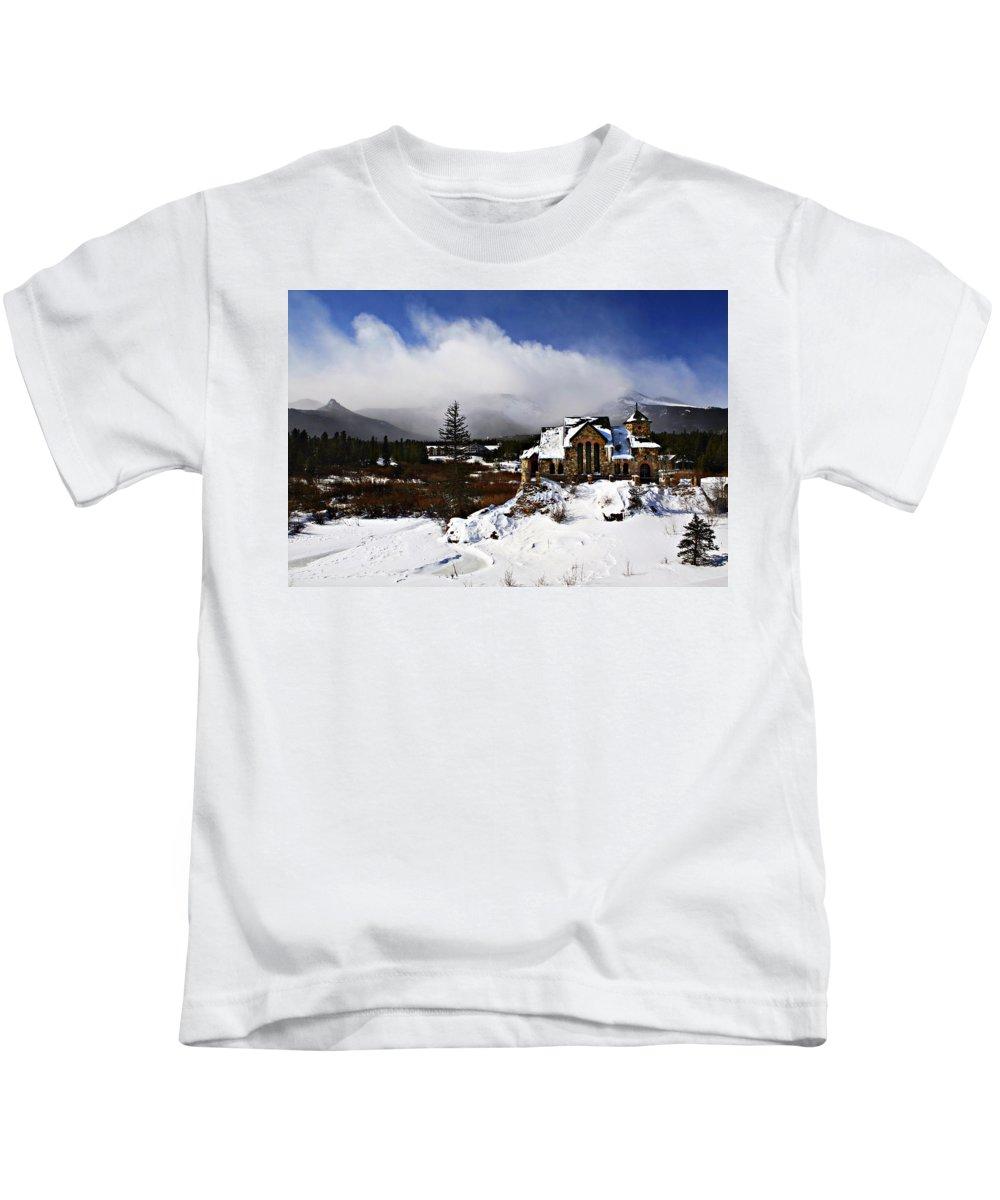 Church Kids T-Shirt featuring the photograph Saint Malo Church Colorado by Marilyn Hunt