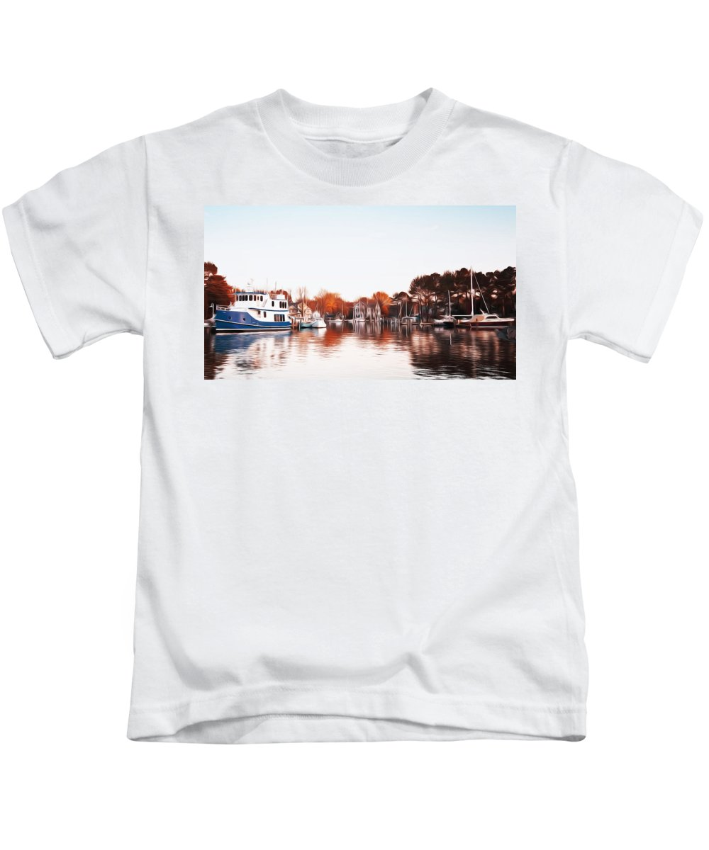 Saint Michael's Harbor Kids T-Shirt featuring the photograph Saint Michael's Harbor by Bill Cannon