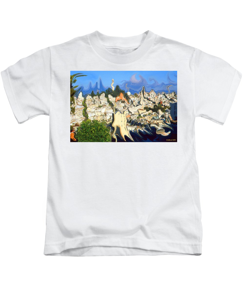 San+francisco Kids T-Shirt featuring the painting San Francisco 1906 - Modern Art by Peter Potter