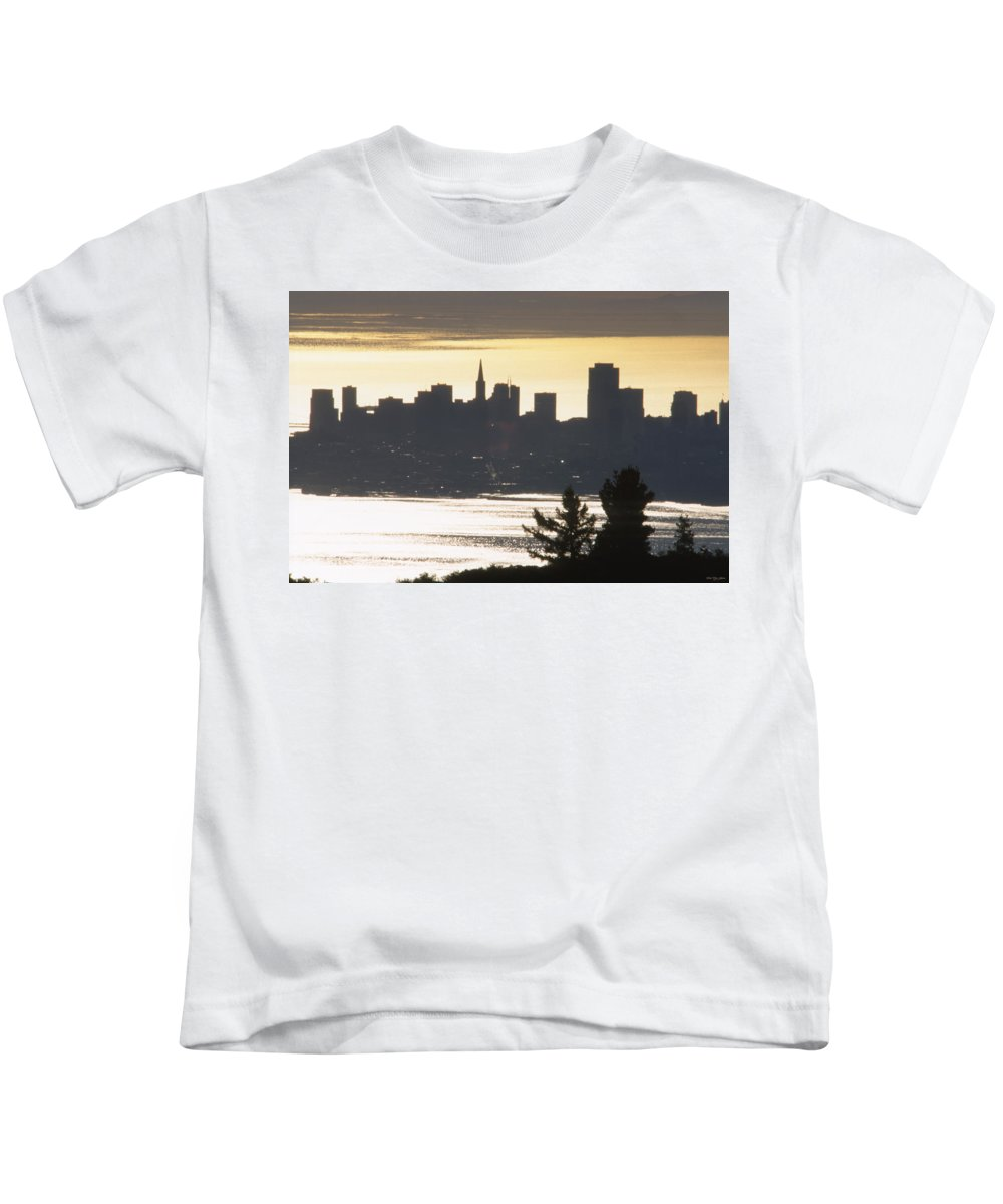 Sunrise Kids T-Shirt featuring the photograph San Francisco - From Tamalpais East by Soli Deo Gloria Wilderness And Wildlife Photography