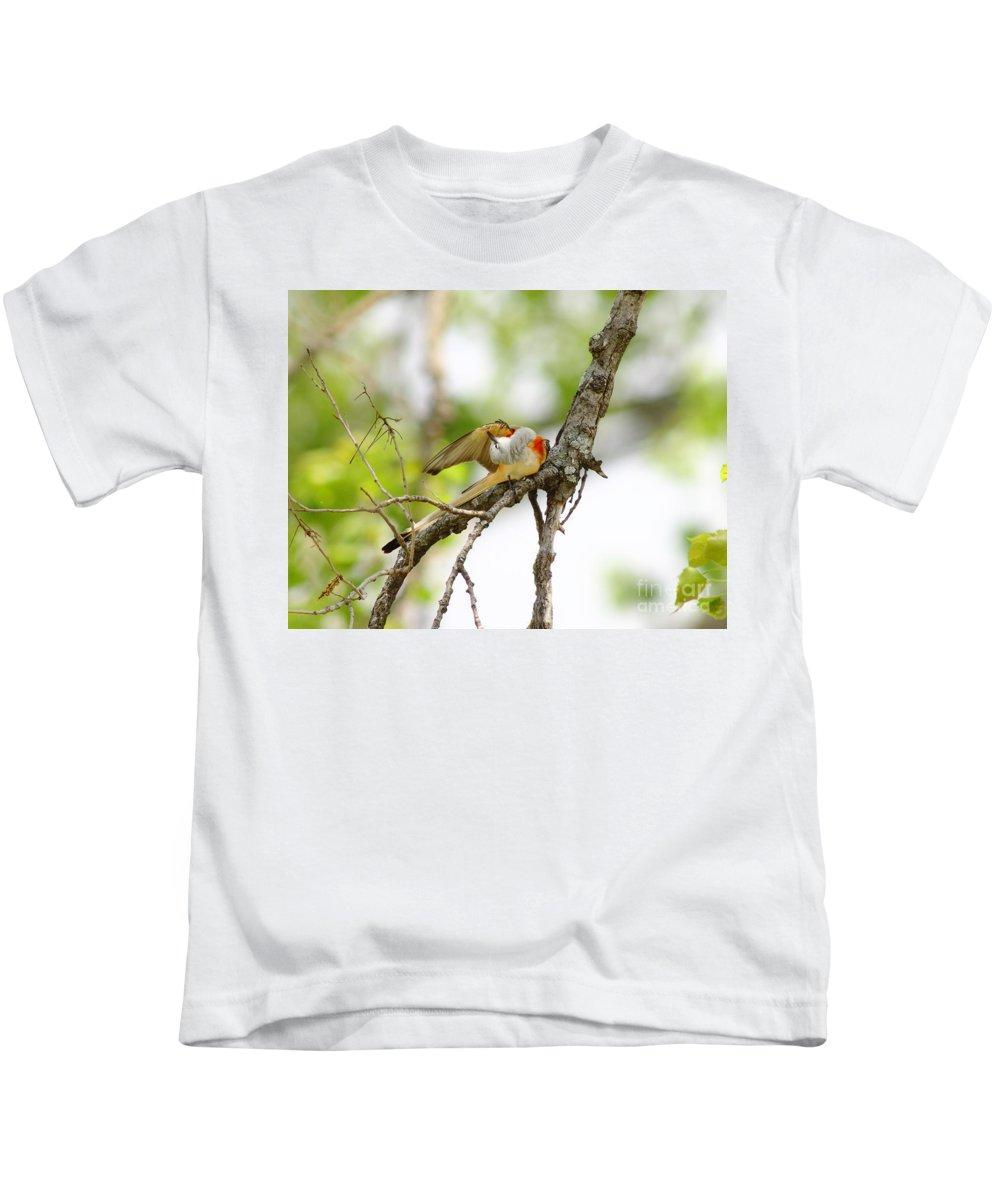Animal Kids T-Shirt featuring the photograph Scissortail Ballet by Robert Frederick