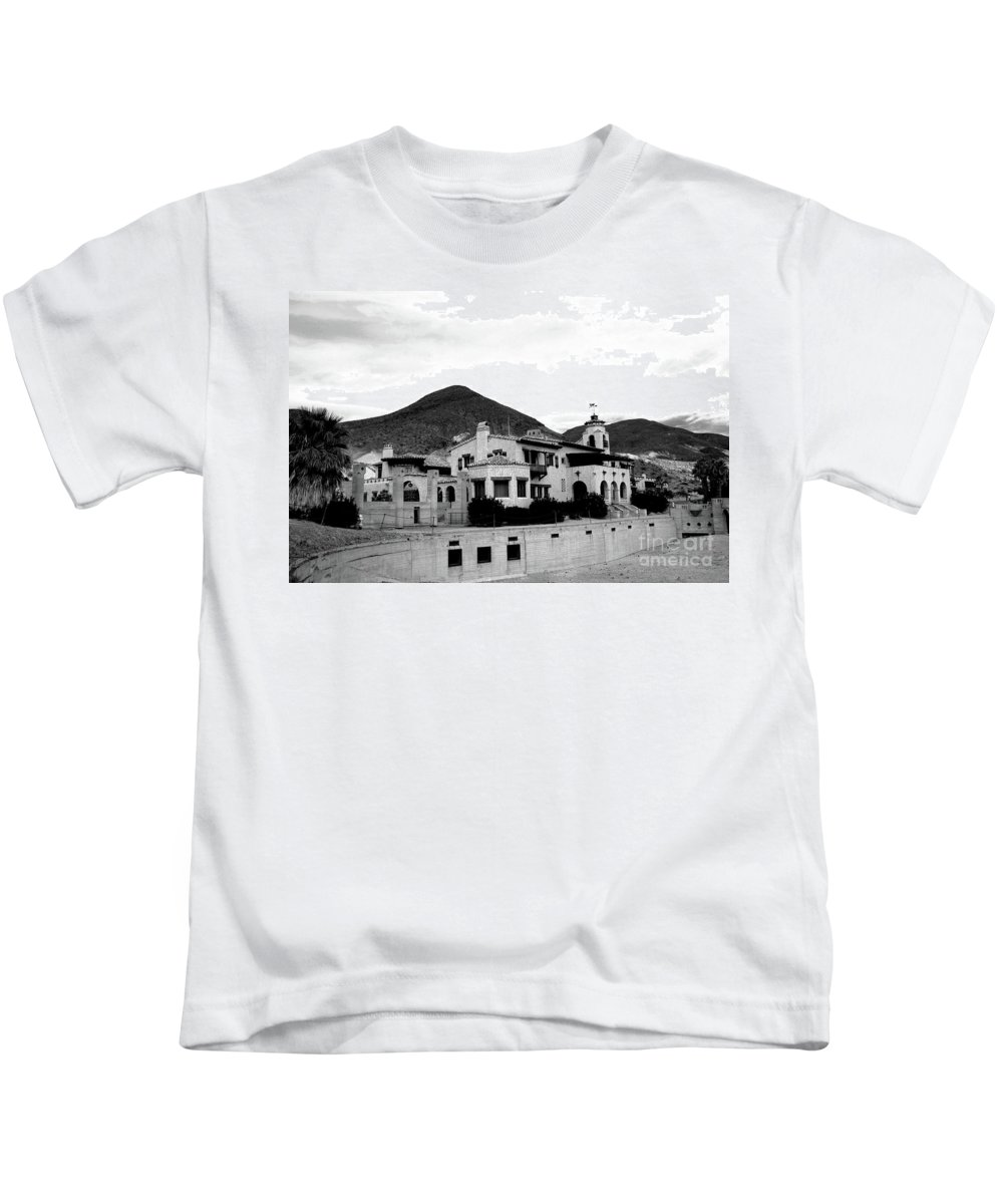 #scotty's Kids T-Shirt featuring the photograph Scotty's Castle II by Kathleen Struckle