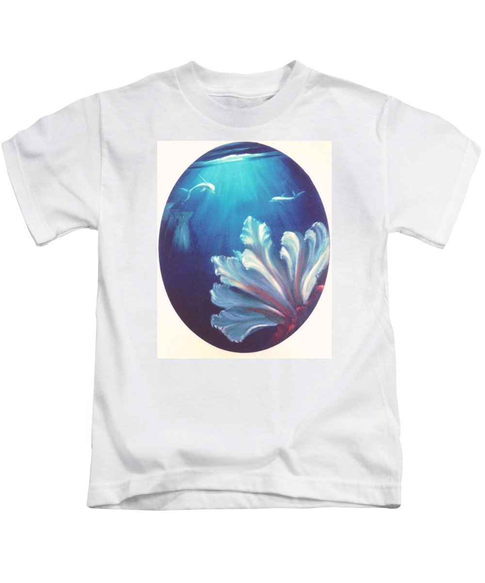 Underwater Kids T-Shirt featuring the painting Sea Fan by Dina Holland