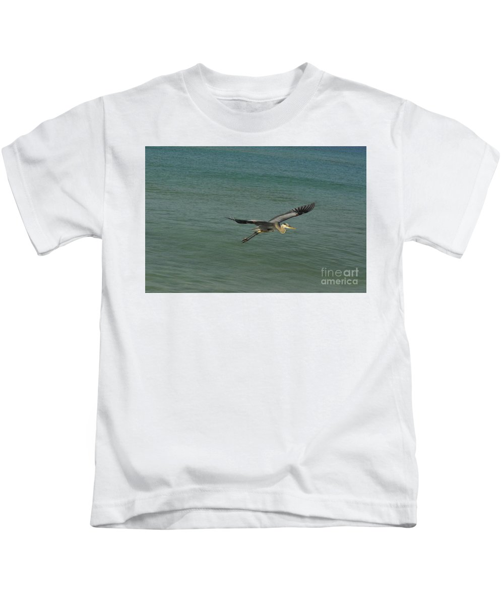 Bird Kids T-Shirt featuring the photograph Sea Plane by Vicky Tubb