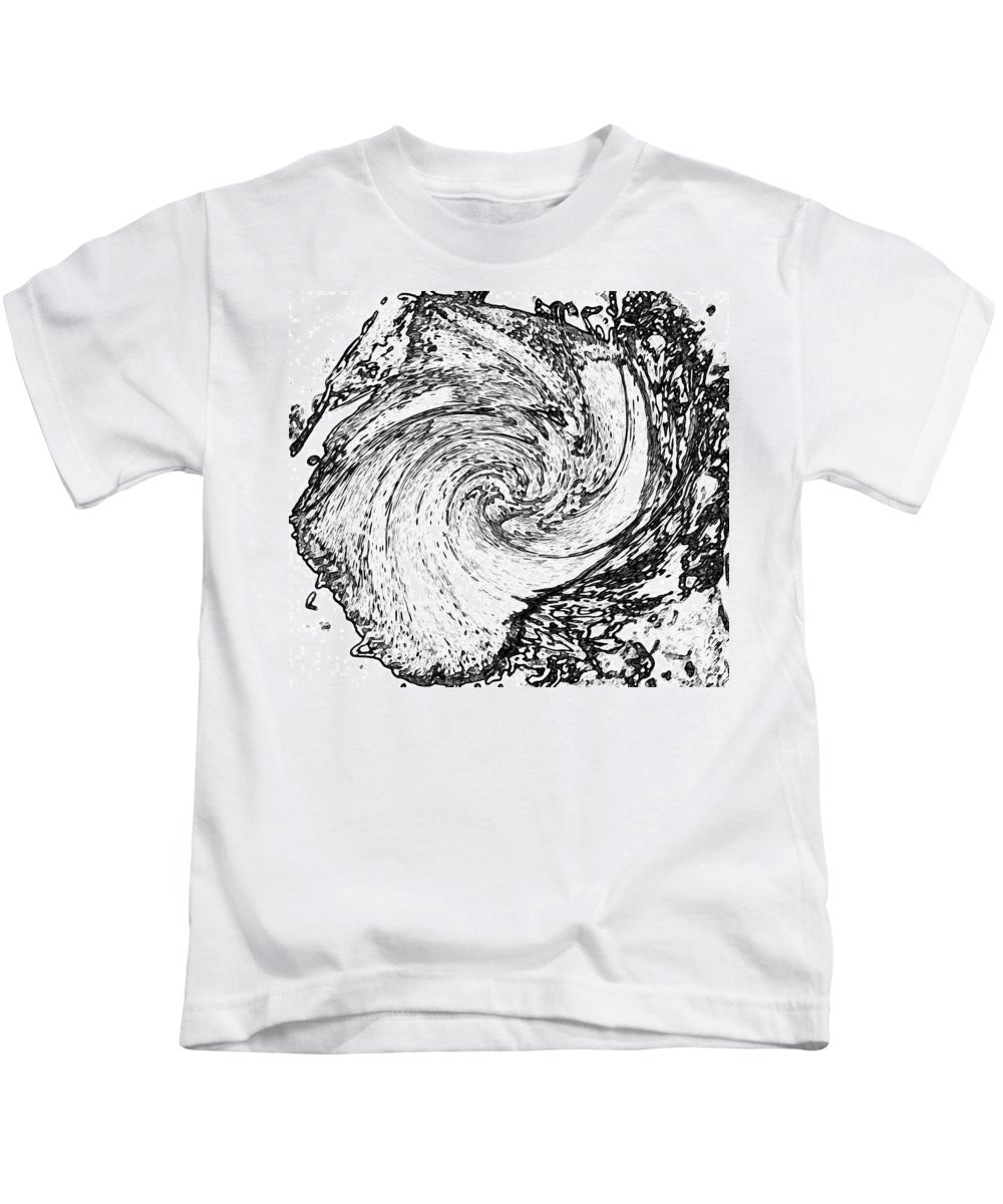 Abstract Kids T-Shirt featuring the digital art Seashell And Ocean by Lenore Senior