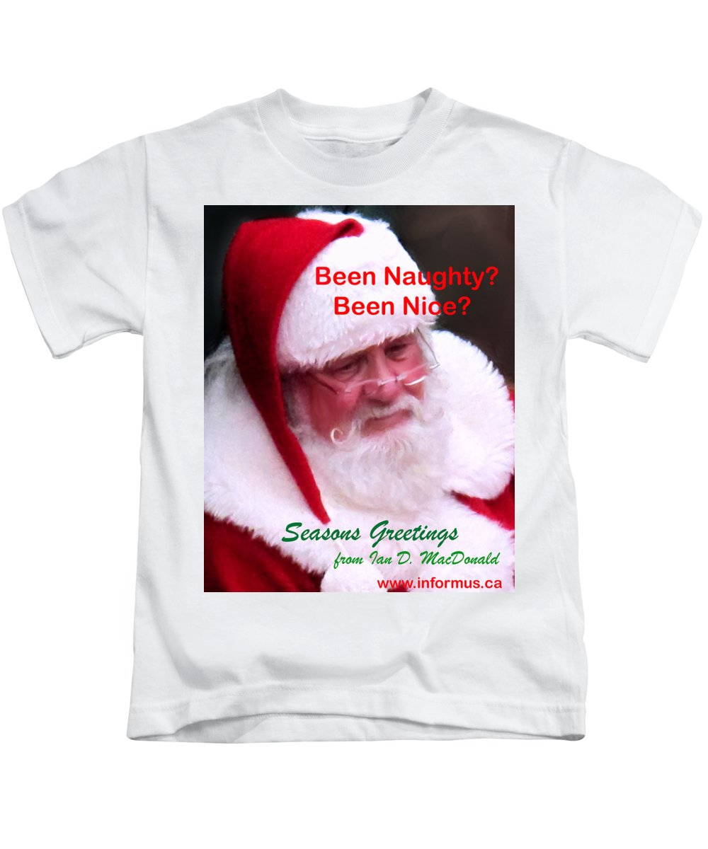 Santa Clause Kids T-Shirt featuring the photograph Seasons Greetings by Ian MacDonald