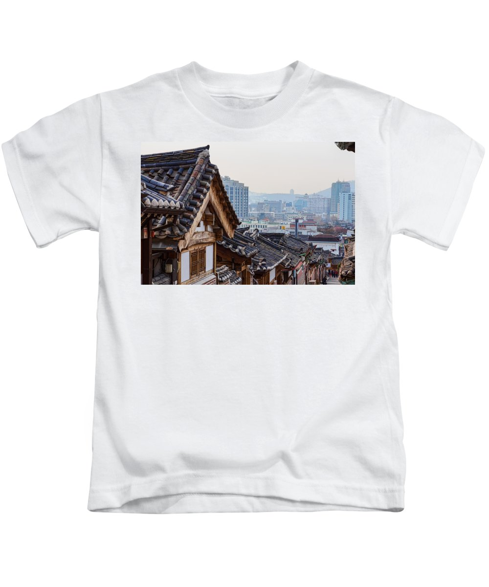 Korea Kids T-Shirt featuring the photograph Seoul Korea Old And New by James BO Insogna