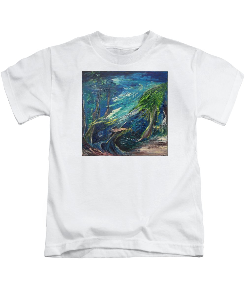Serenade In Edwards Gardens Kids T-Shirt featuring the painting Serenade In Edwards Gardens by Karina Ishkhanova