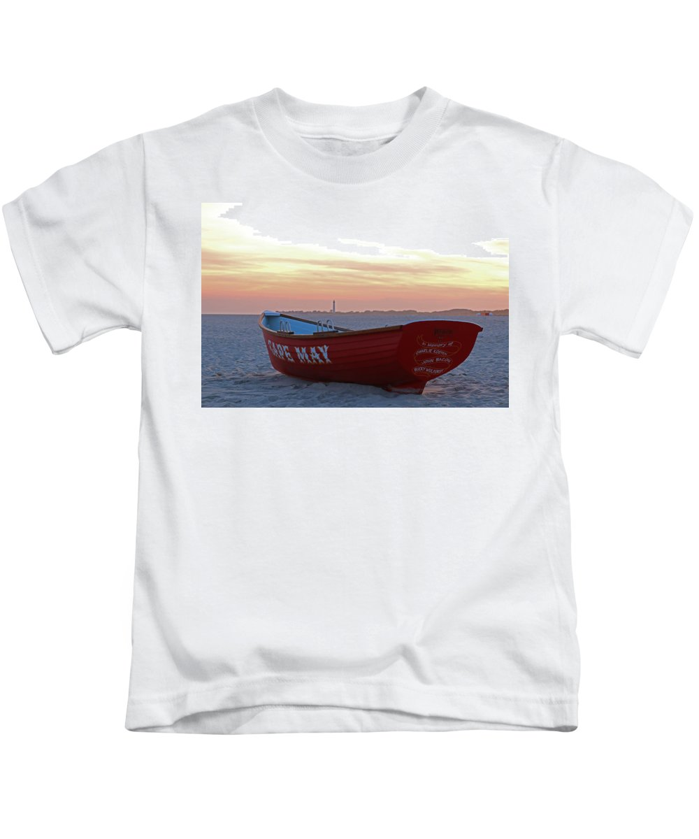 Cape May Kids T-Shirt featuring the photograph Serenity In Cape May by Terrie Stickle