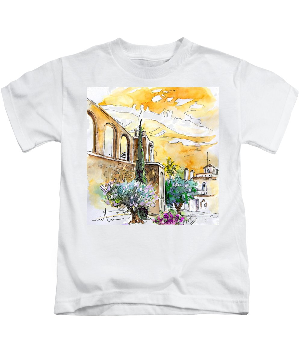Portugal Paintings Kids T-Shirt featuring the painting Serpa Portugal 10 by Miki De Goodaboom