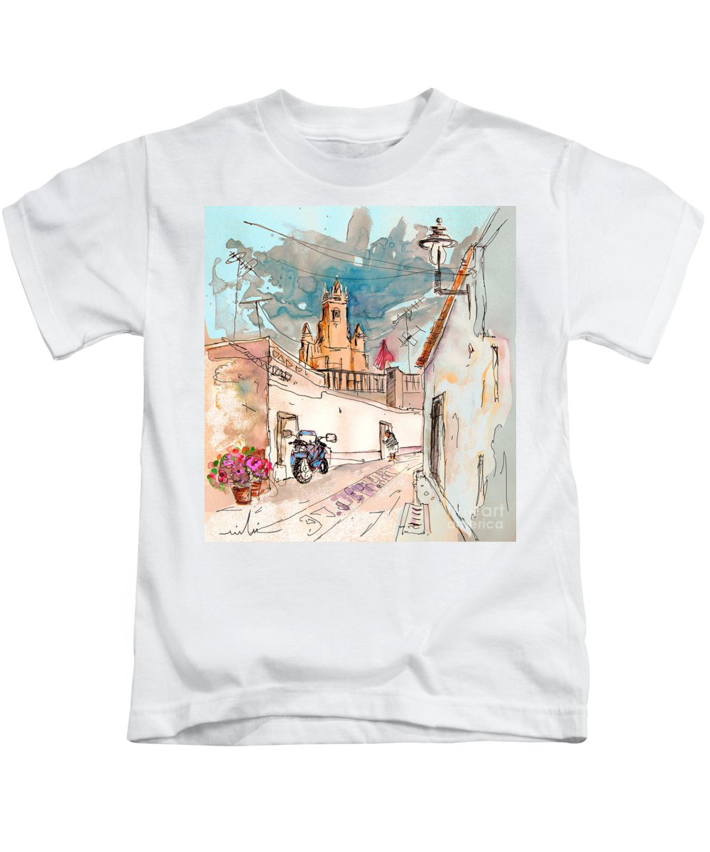 Portugal Paintings Kids T-Shirt featuring the painting Serpa Portugal 22 by Miki De Goodaboom