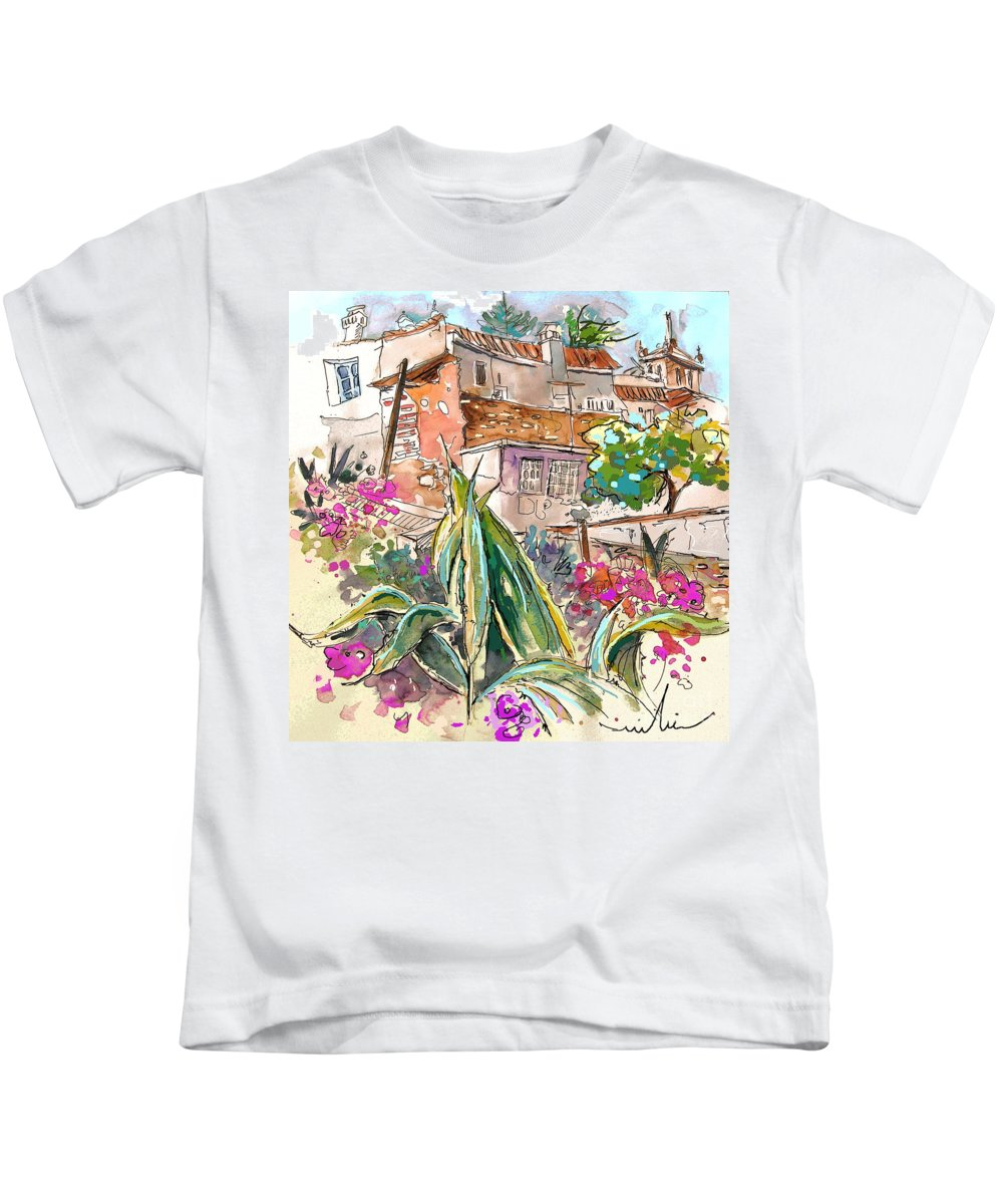 Portugal Paintings Kids T-Shirt featuring the painting Serpa Portugal 24 by Miki De Goodaboom