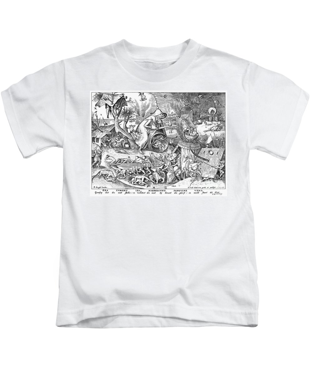 1557 Kids T-Shirt featuring the photograph Seven Deadly Sins: Anger by Granger