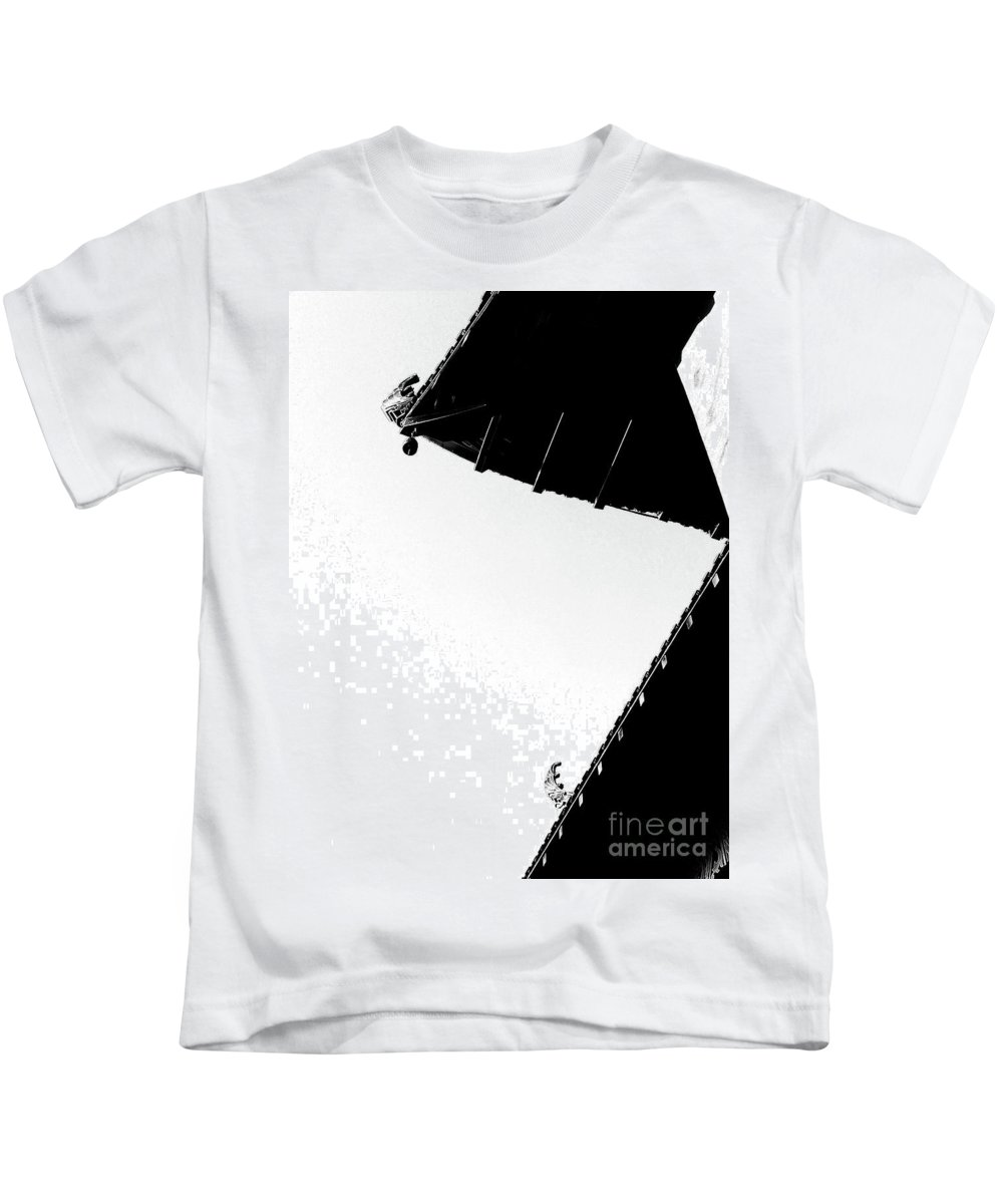 Architecture Kids T-Shirt featuring the photograph Shaded Sunlight by Fei A