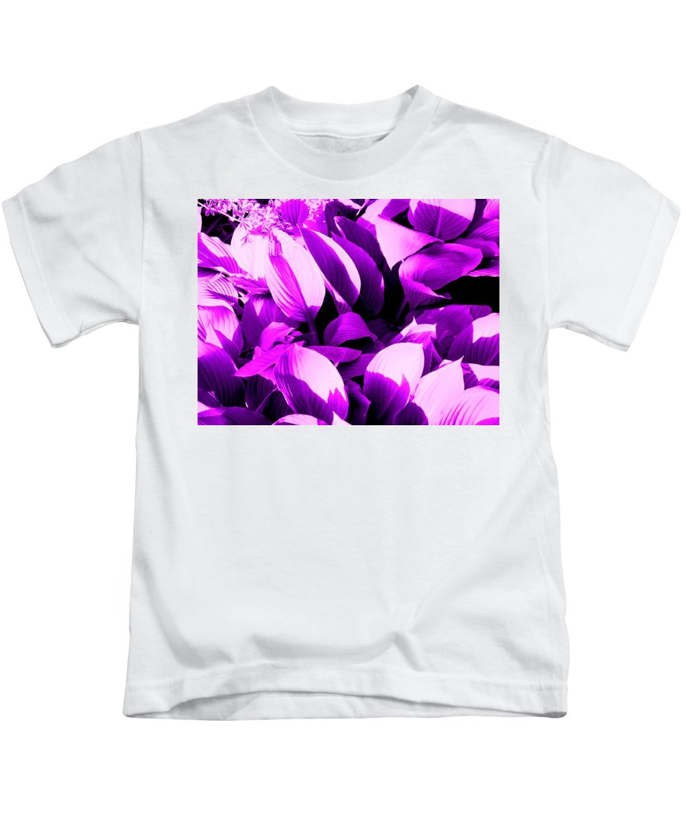 Leaves Kids T-Shirt featuring the photograph Shades by Ian MacDonald