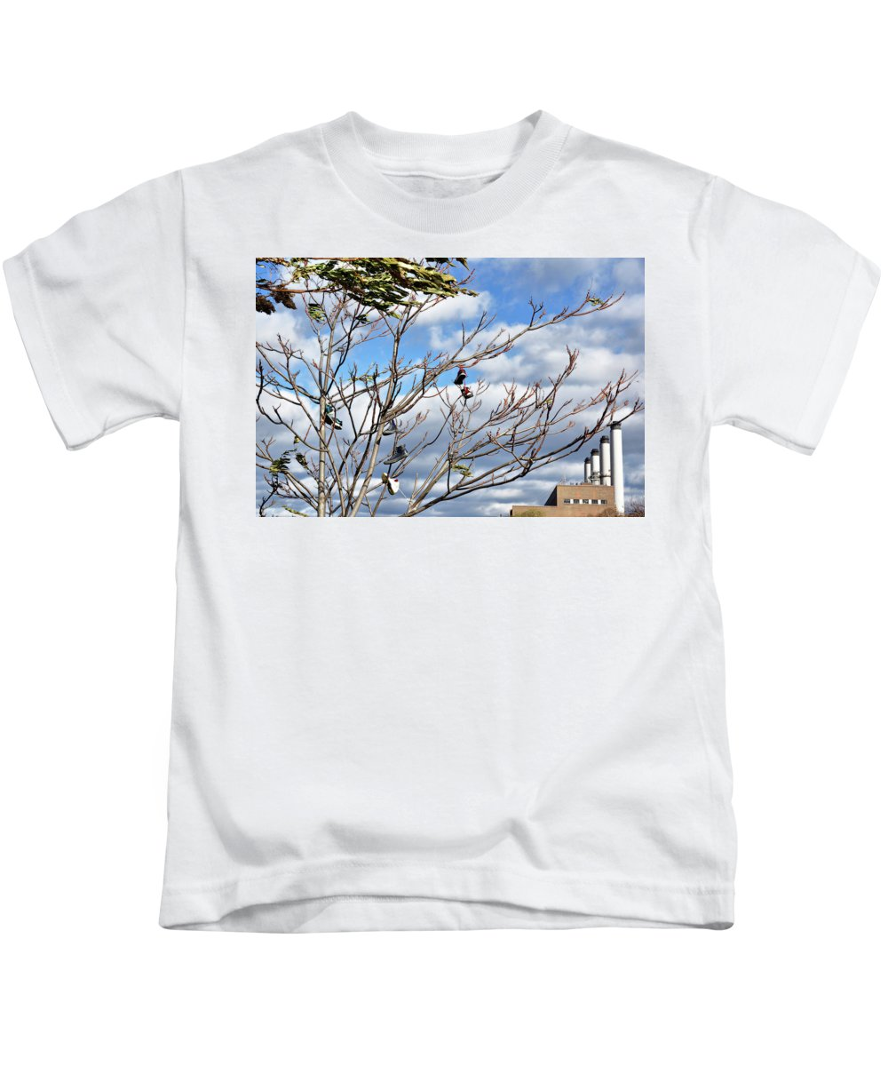 Leaves Kids T-Shirt featuring the photograph Shoe Tree by Cate Franklyn