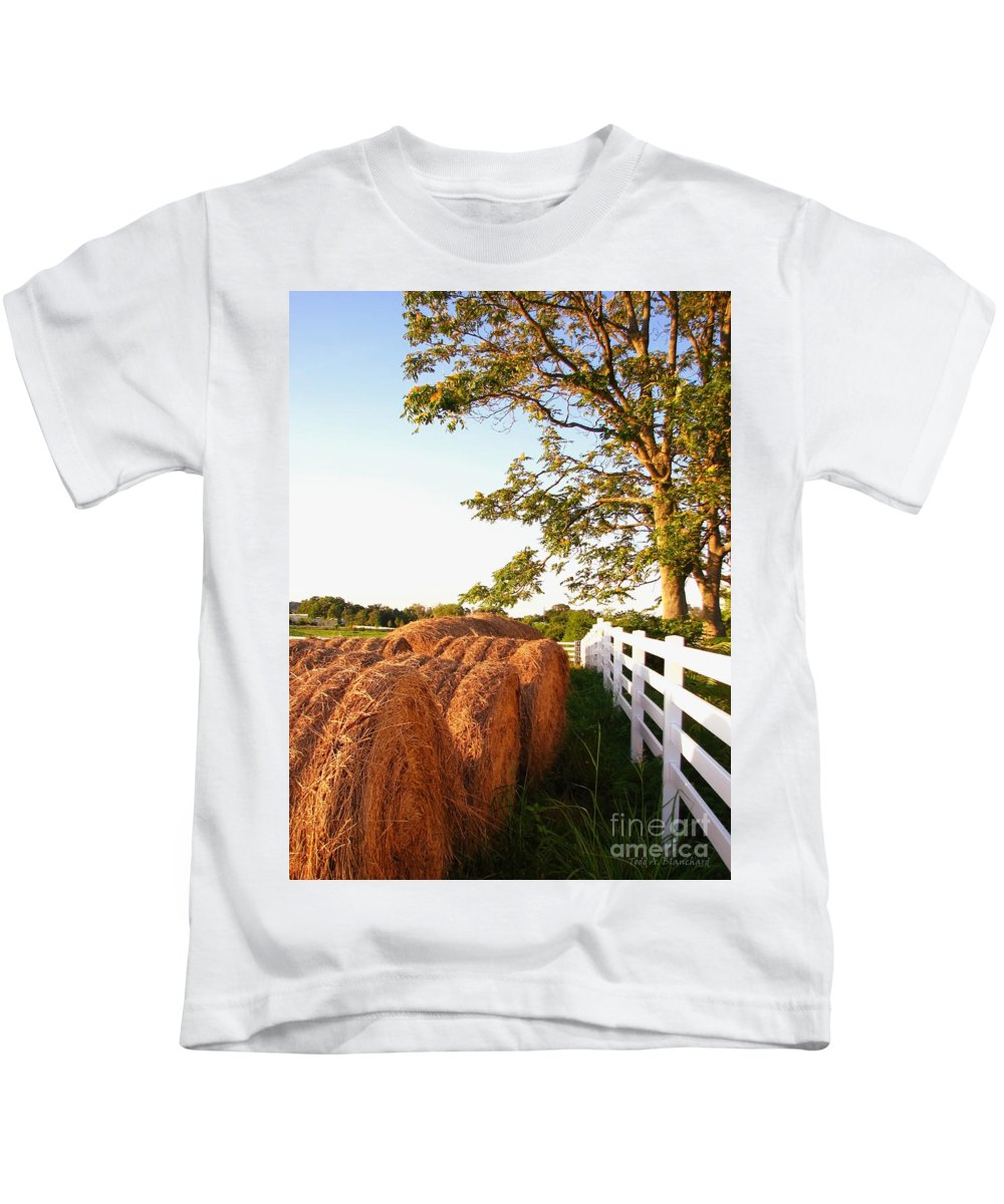 Landscape Kids T-Shirt featuring the photograph Side-by-side by Todd Blanchard