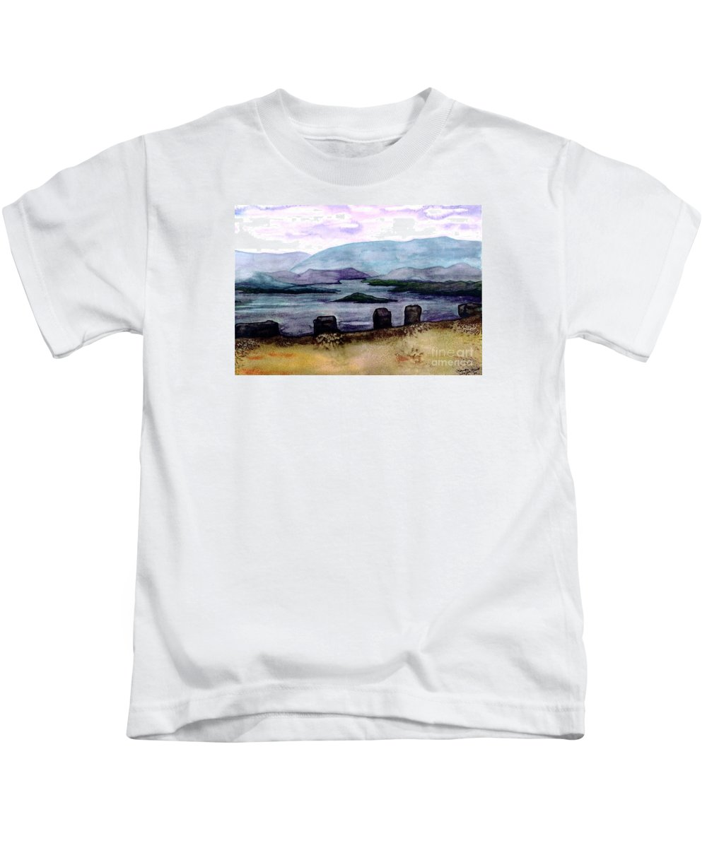 Original Painting Kids T-Shirt featuring the painting Silent Sentinels by Patricia Griffin Brett