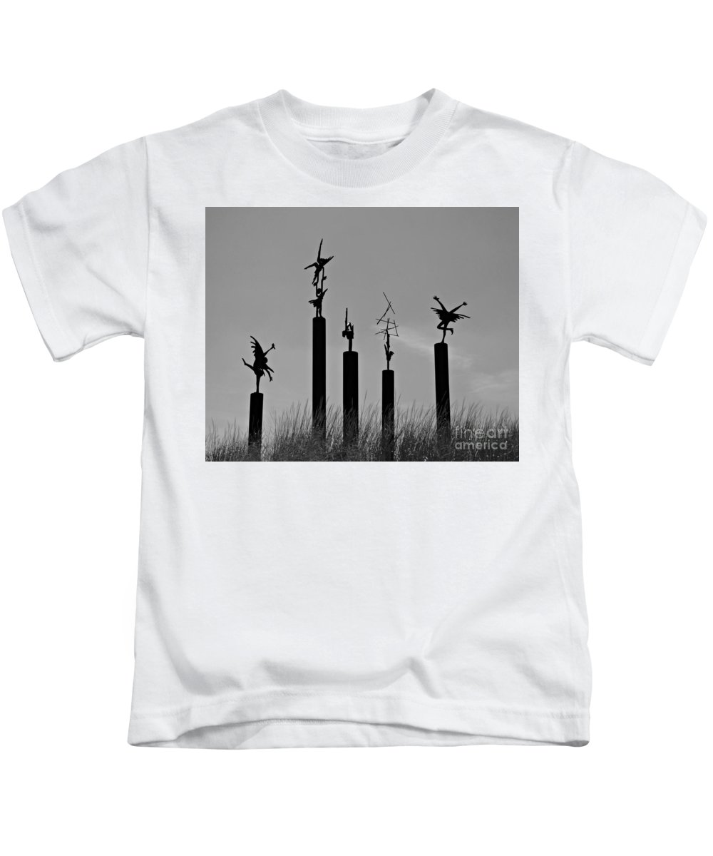 Silhouettes Kids T-Shirt featuring the photograph Silhouettes by Scott Ward