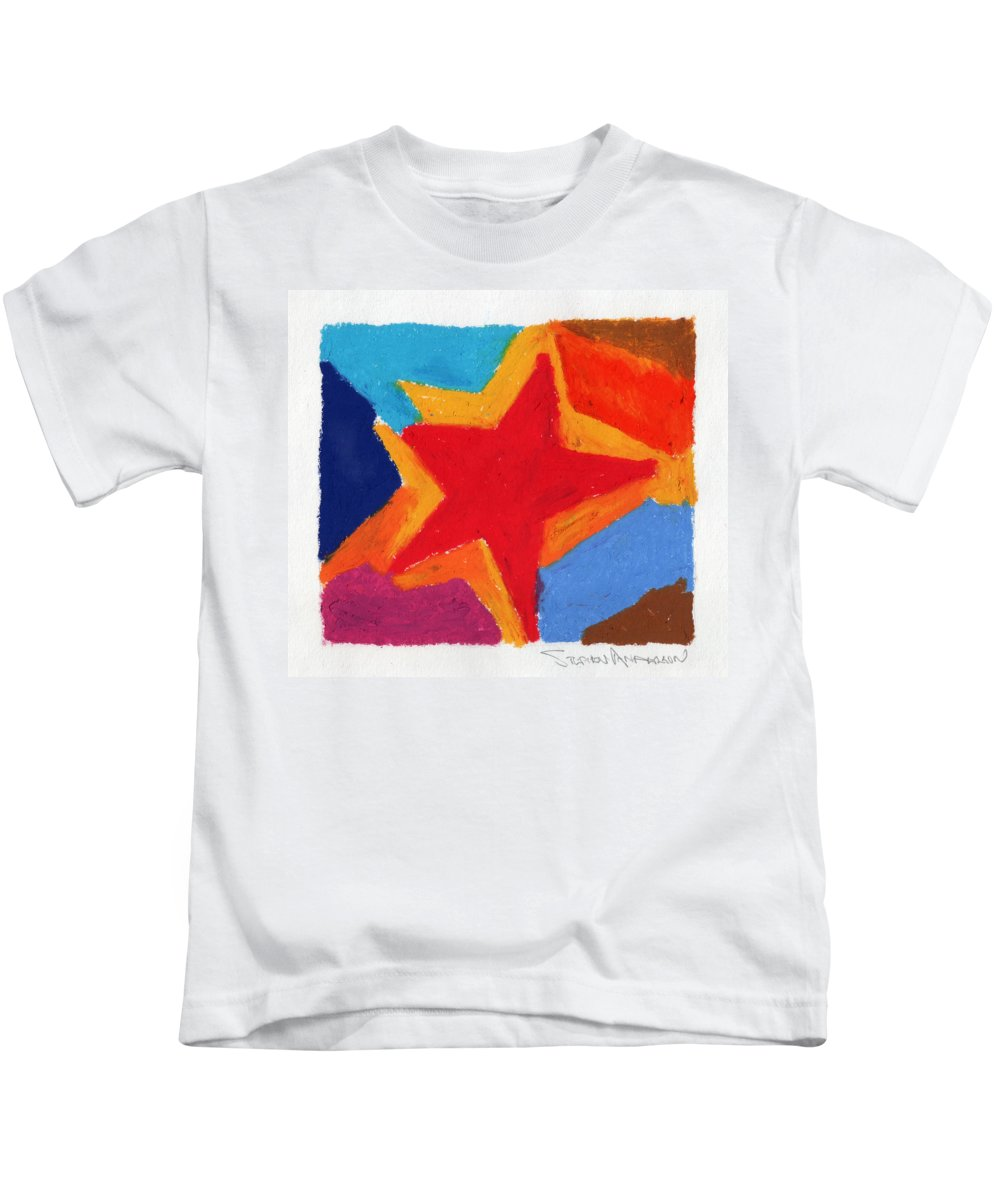 Star Kids T-Shirt featuring the painting Simple Star by Stephen Anderson