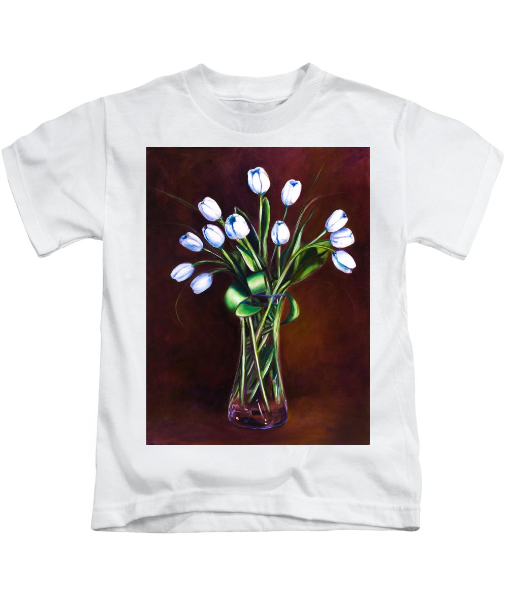 Shannon Grissom Kids T-Shirt featuring the painting Simply Tulips by Shannon Grissom