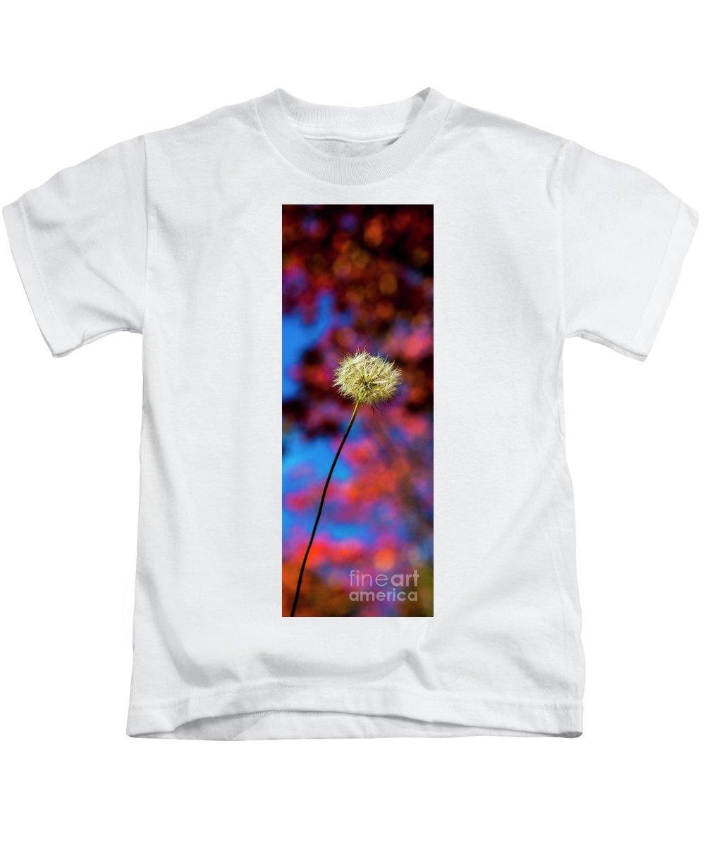 Flower Kids T-Shirt featuring the photograph Single dandelion by Sheila Smart Fine Art Photography