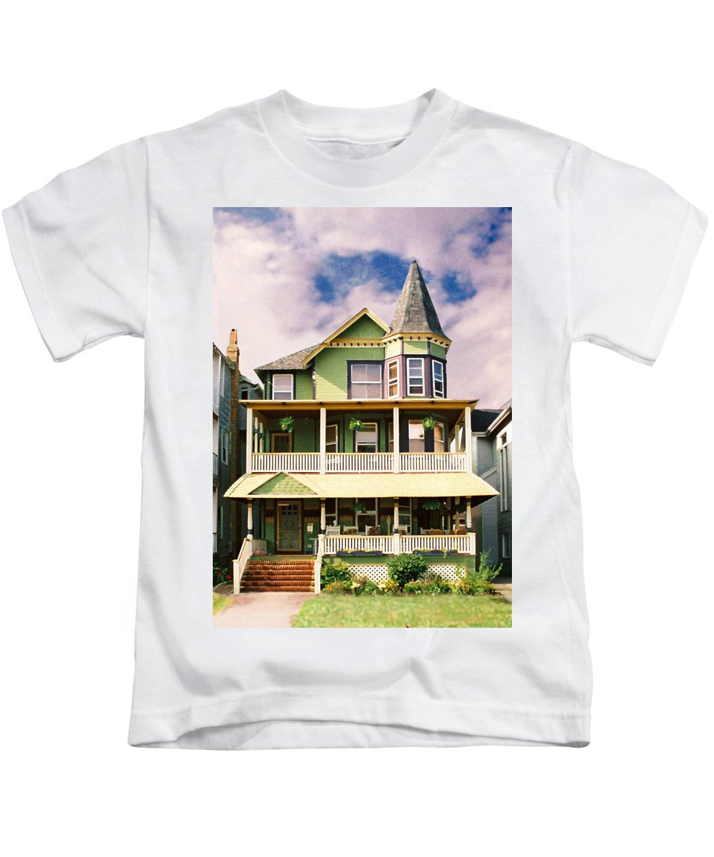 Archtiecture Kids T-Shirt featuring the photograph Sisters Panel 1 Of Triptych by Steve Karol