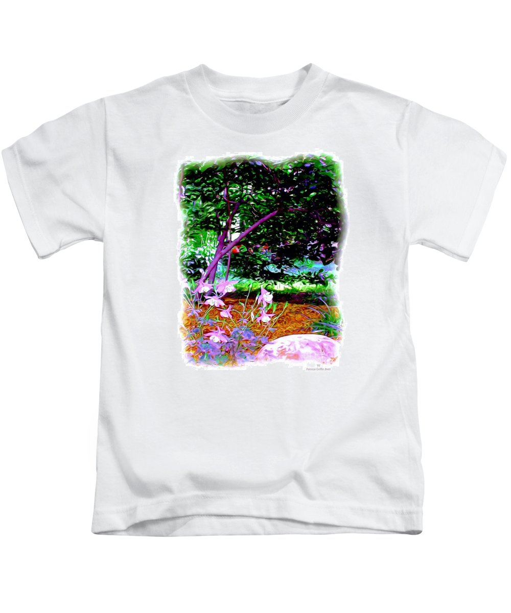 Fine Art Kids T-Shirt featuring the painting Sitting In The Shade by Patricia Griffin Brett