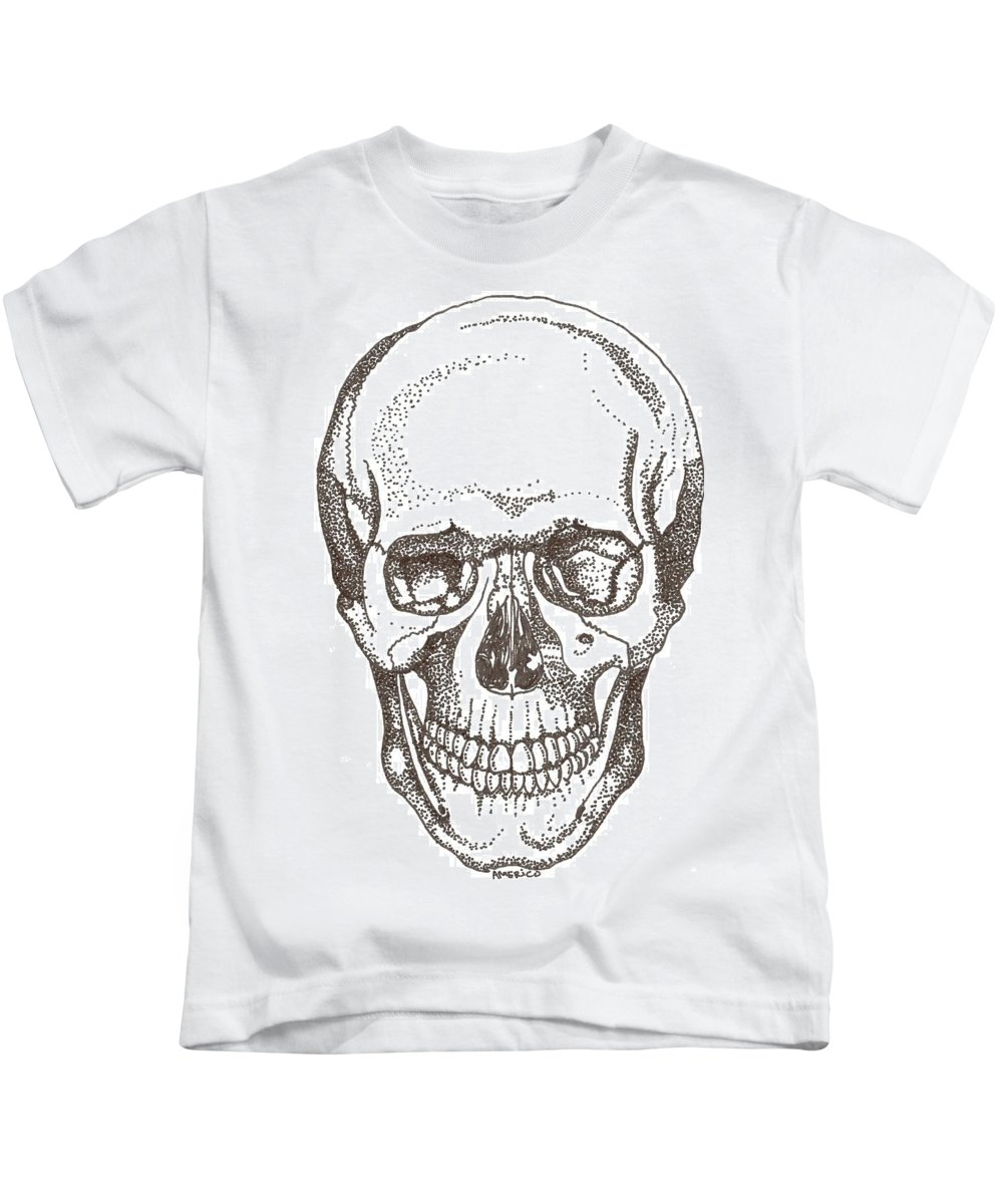Skull Kids T-Shirt featuring the drawing Skull by Americo Salazar
