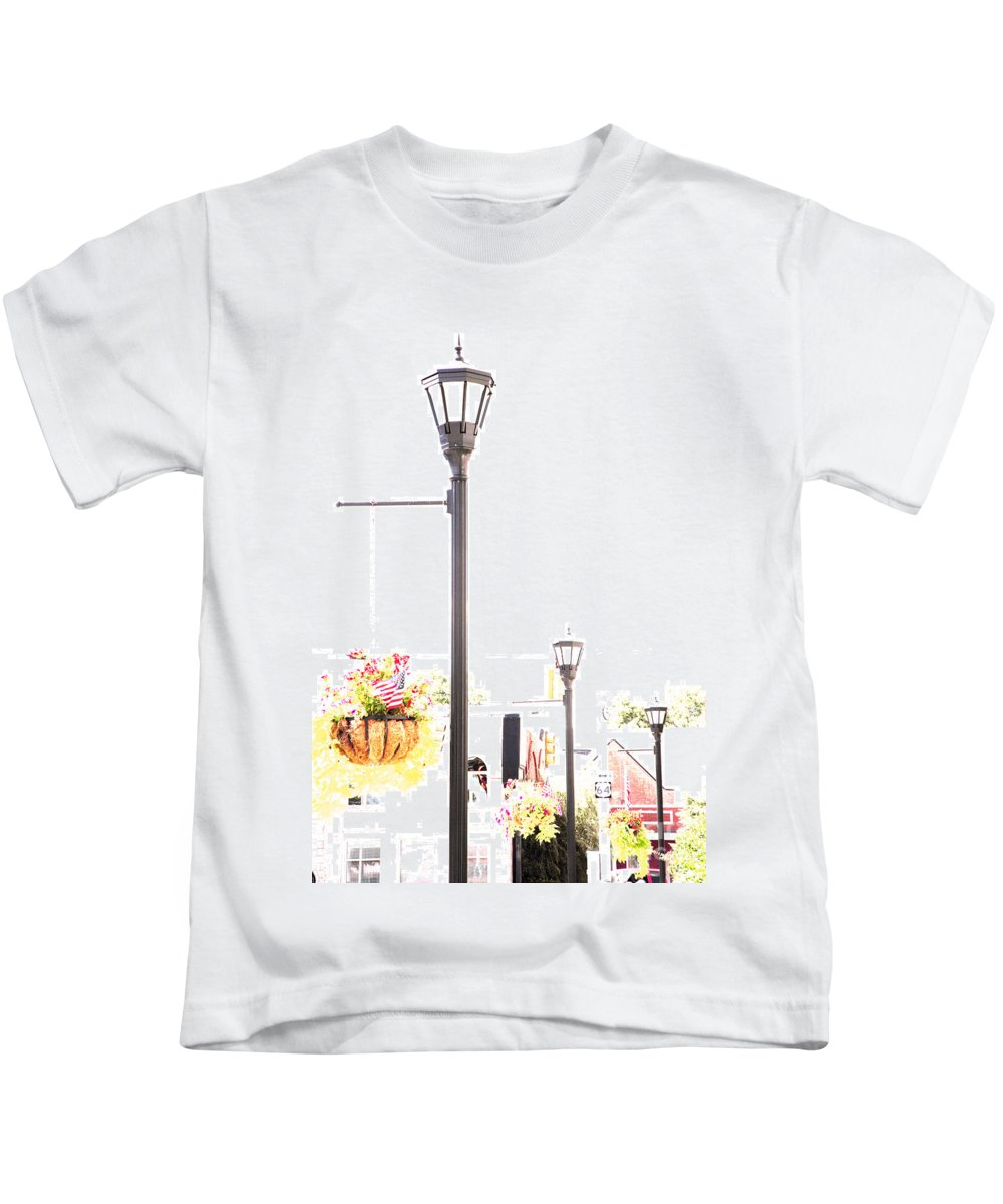 Small Town Kids T-Shirt featuring the photograph Small Town by Amanda Barcon