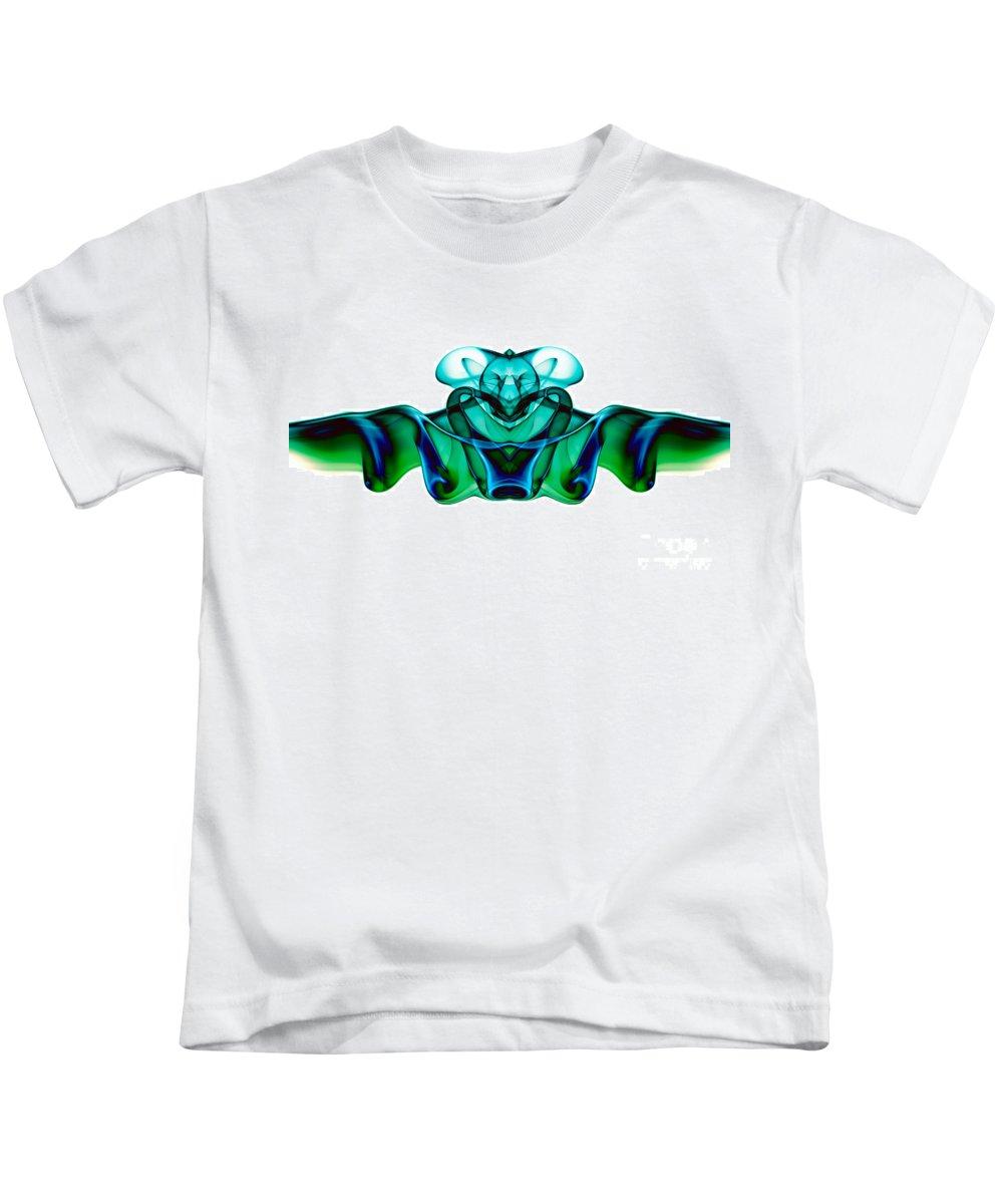 Abstract Kids T-Shirt featuring the photograph smoke XXIII mb2 by Joerg Lingnau