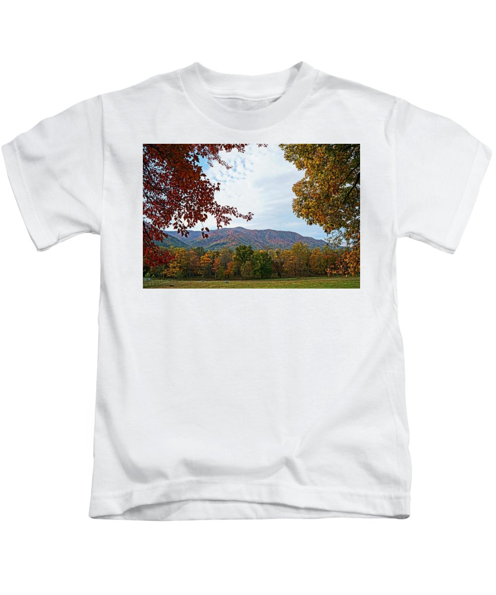 Smokey Mountains Kids T-Shirt featuring the photograph Smokey Mountains by Clay Carroll