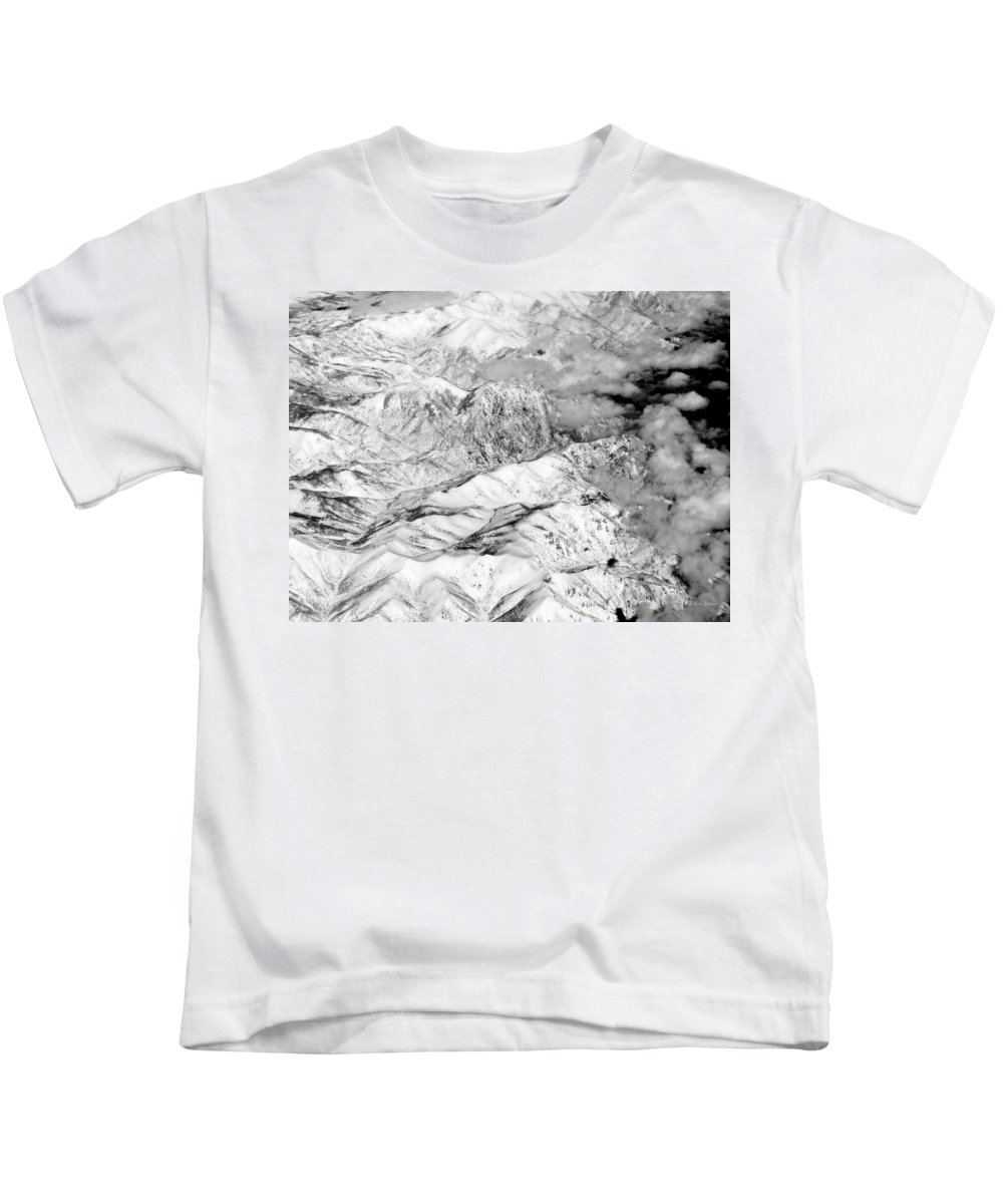 Landscape Kids T-Shirt featuring the photograph Snow Covered by Deborah Crew-Johnson