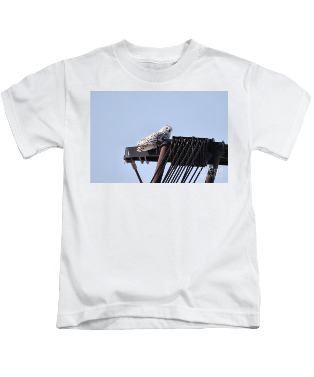 Snowy Owl Kids T-Shirt featuring the photograph Snowy Owl 2959 by Joseph Marquis