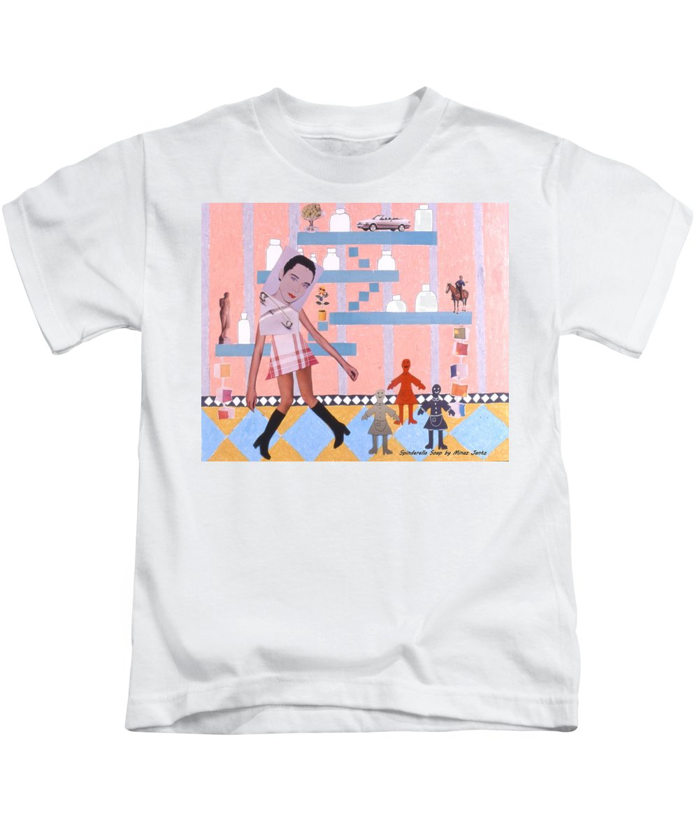 Cowboy Kids T-Shirt featuring the drawing Soap Scene #16 Miracle Maids by Minaz Jantz