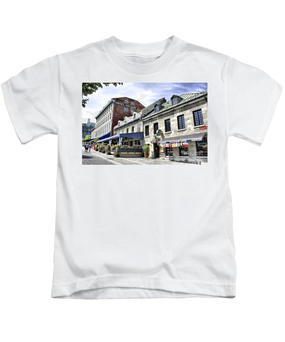 Montreal Kids T-Shirt featuring the photograph Souvenirs Montreal by Deborah Benoit