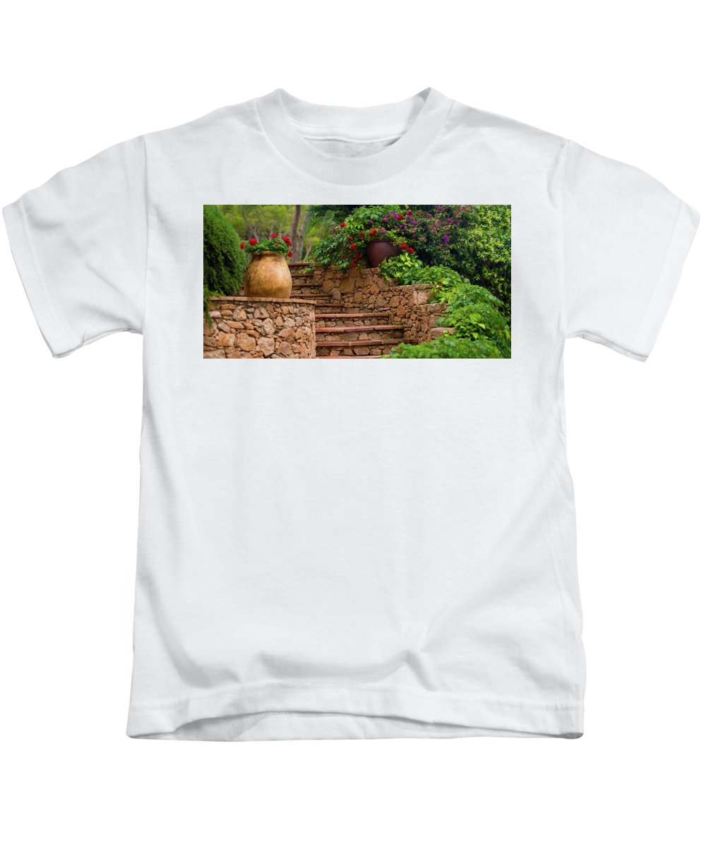 Spain Kids T-Shirt featuring the photograph Spanish Retreat by Jacquelyn Crady
