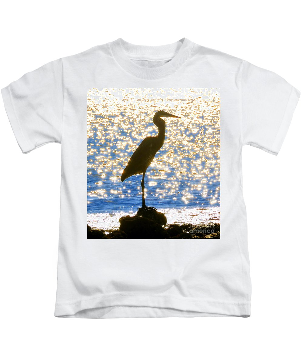 Egret Kids T-Shirt featuring the photograph Sparkling Egret by David Lee Thompson