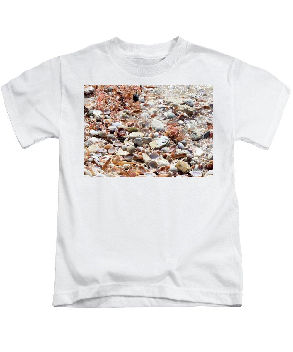Florida Kids T-Shirt featuring the photograph Sparkling Shells by Carol Groenen