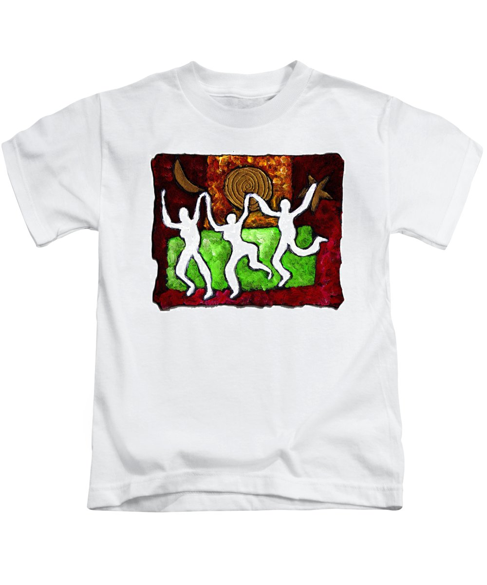 Dance Kids T-Shirt featuring the painting Spirits Of The Dance by Wayne Potrafka