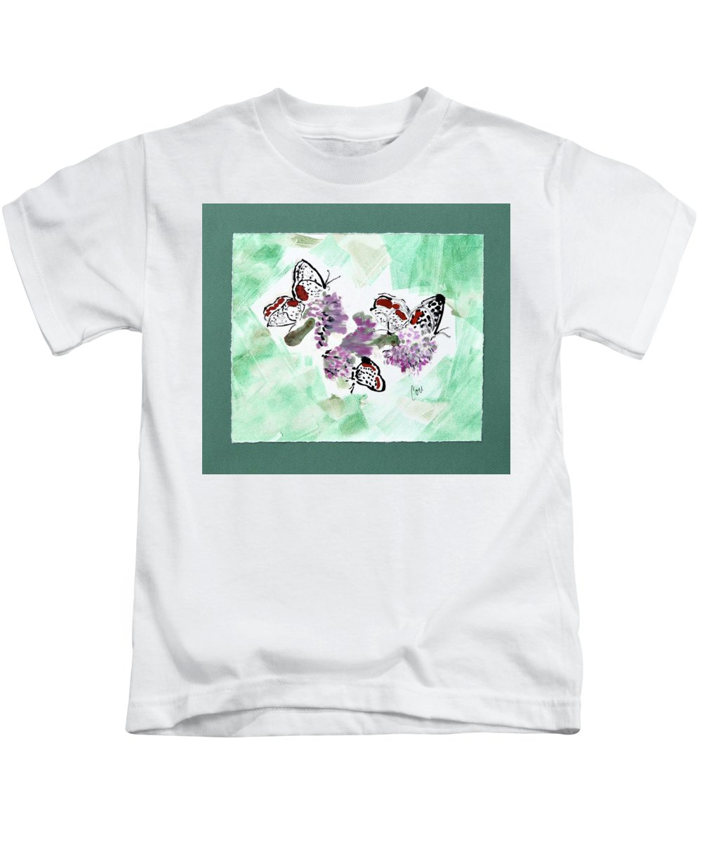 Spring Kids T-Shirt featuring the mixed media Spring Fever by Cori Solomon