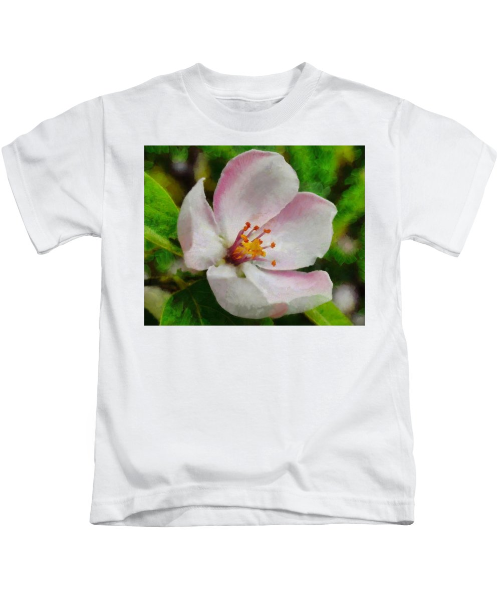Wood Kids T-Shirt featuring the painting Spring - Id 16235-142747-0642 by S Lurk