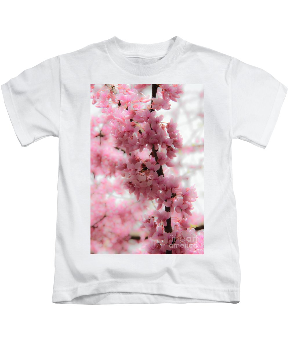 Cherry Blossoms Kids T-Shirt featuring the photograph Spring Is In The Air by Amy Sorvillo