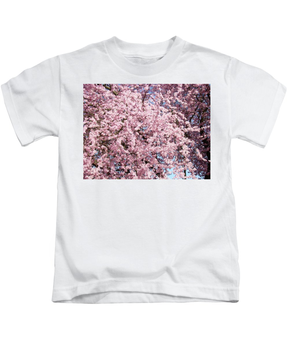 Tree Kids T-Shirt featuring the photograph Spring Trees Art Prints Pink Springtime Blossoms Baslee Troutman by Baslee Troutman